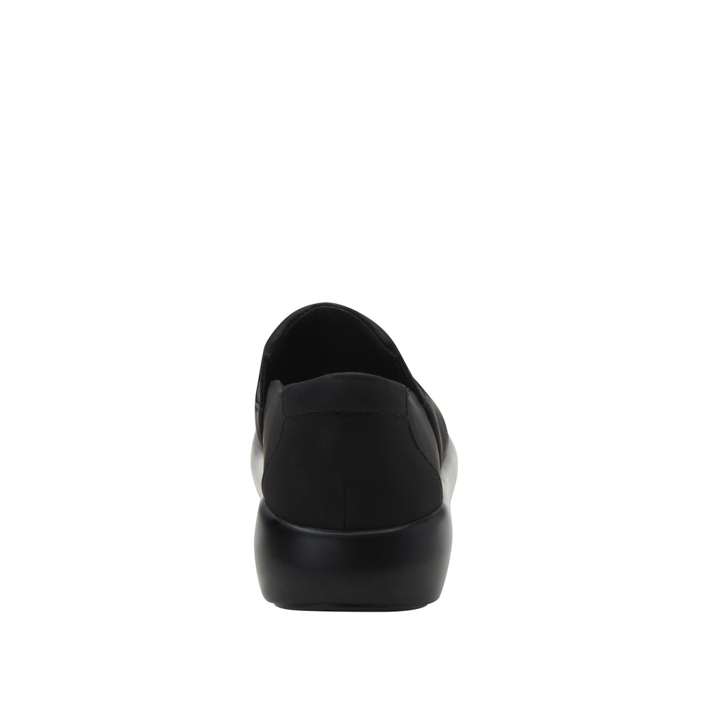 Elly Black Softie vegan leather upper slip on style shoe with non-flexing rocker outsole - ELL-7873_S3