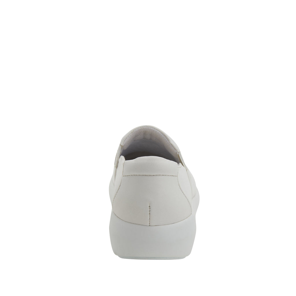 Elly White Softie vegan leather upper slip on style shoe with non-flexing rocker outsole - ELL-7874_S3