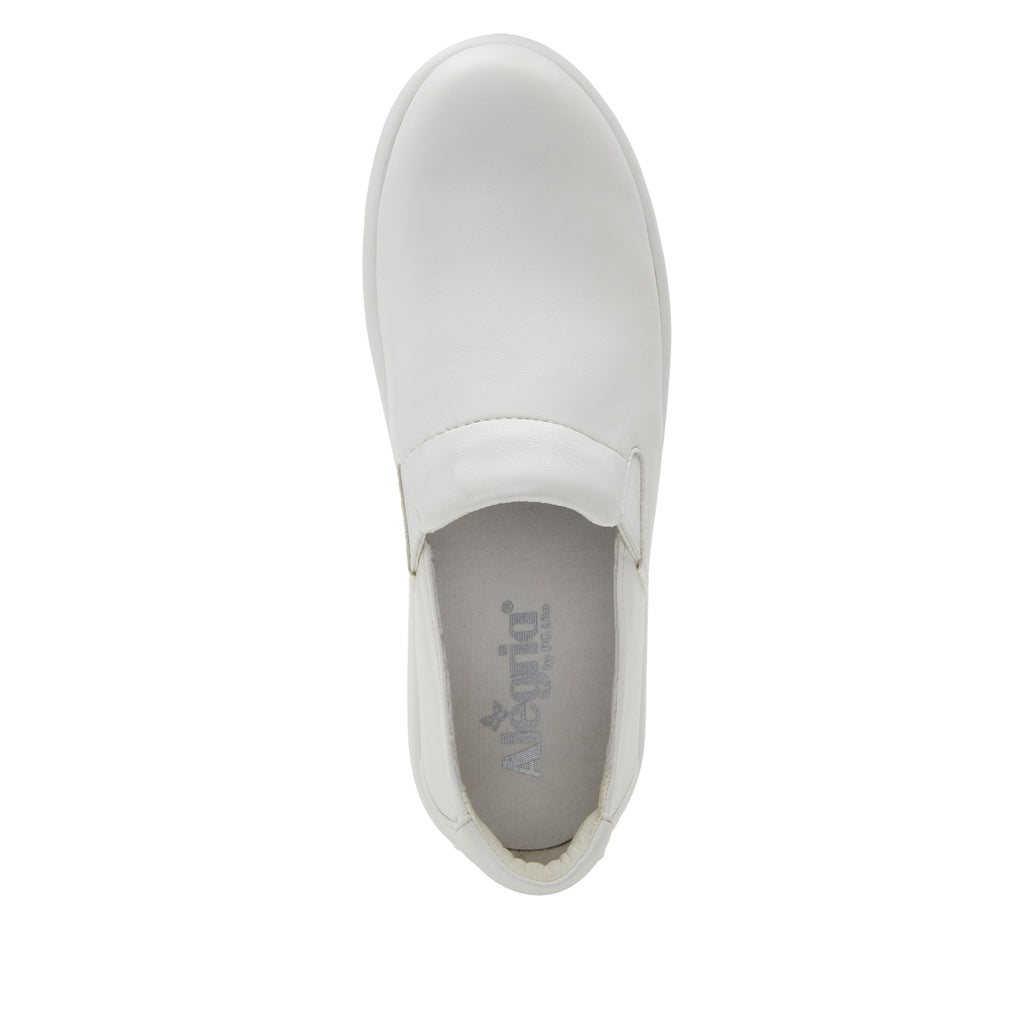 Elly White Softie vegan leather upper slip on style shoe with non-flexing rocker outsole - ELL-7874_S4