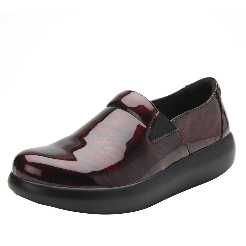 Elly Plum Fields vegan leather upper slip on style shoe with non-flexing rocker outsole - ELL-7876_S1