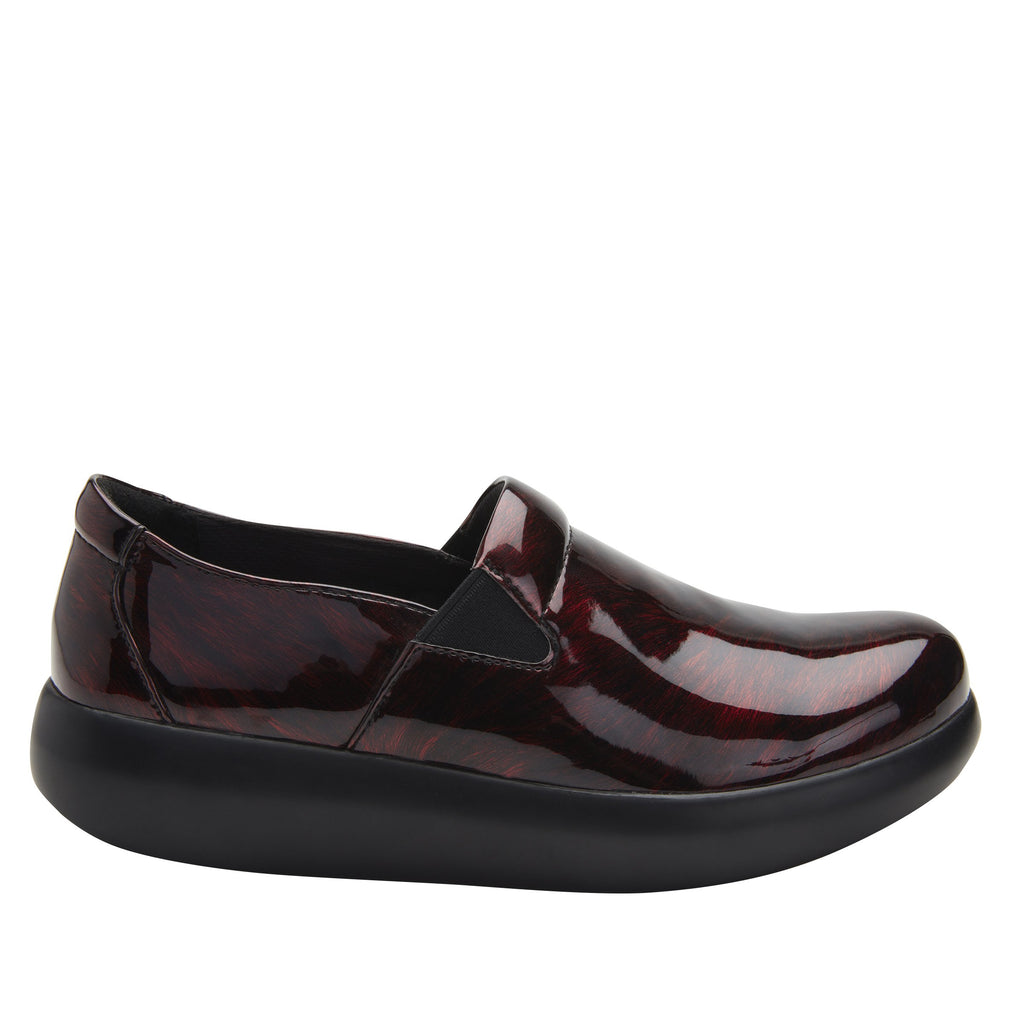 Elly Plum Fields vegan leather upper slip on style shoe with non-flexing rocker outsole - ELL-7876_S2