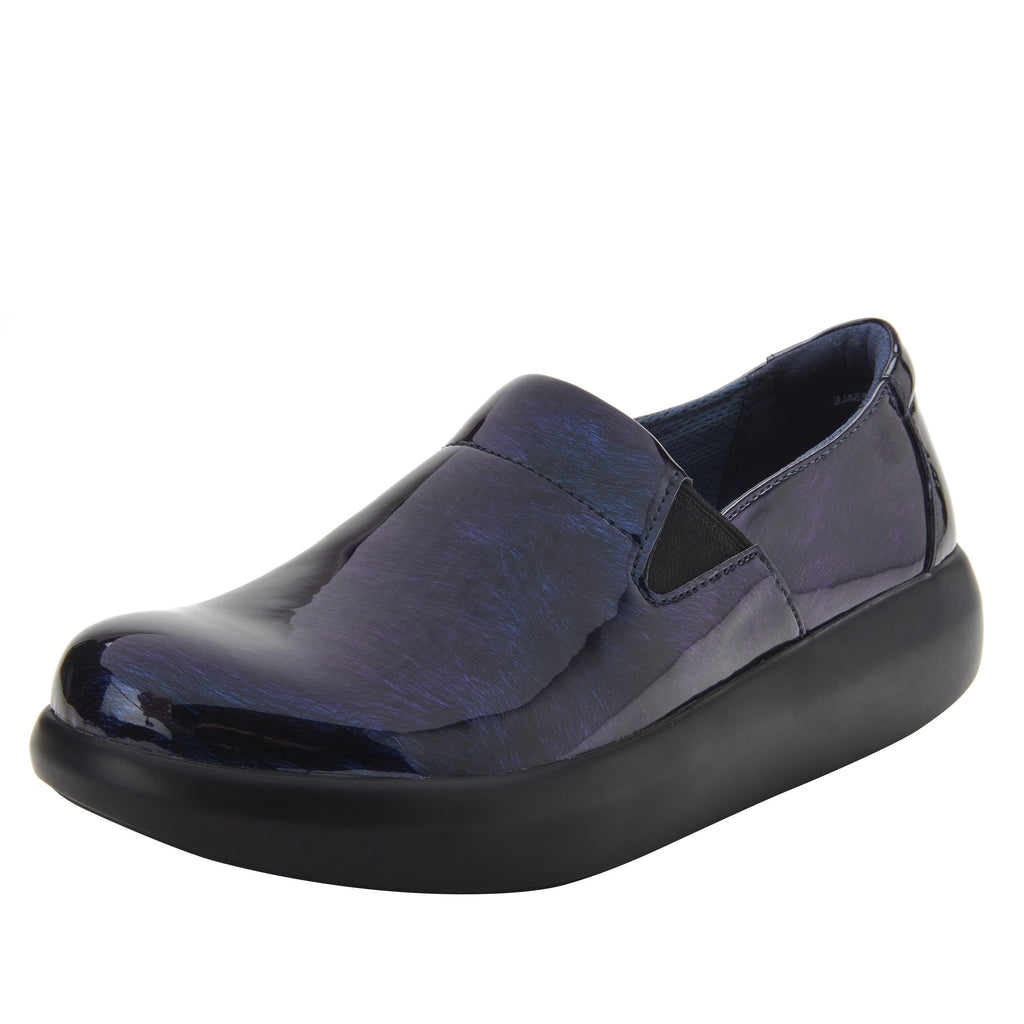 Elly Azure Fields vegan leather upper slip on style shoe with non-flexing rocker outsole - ELL-7877_S1