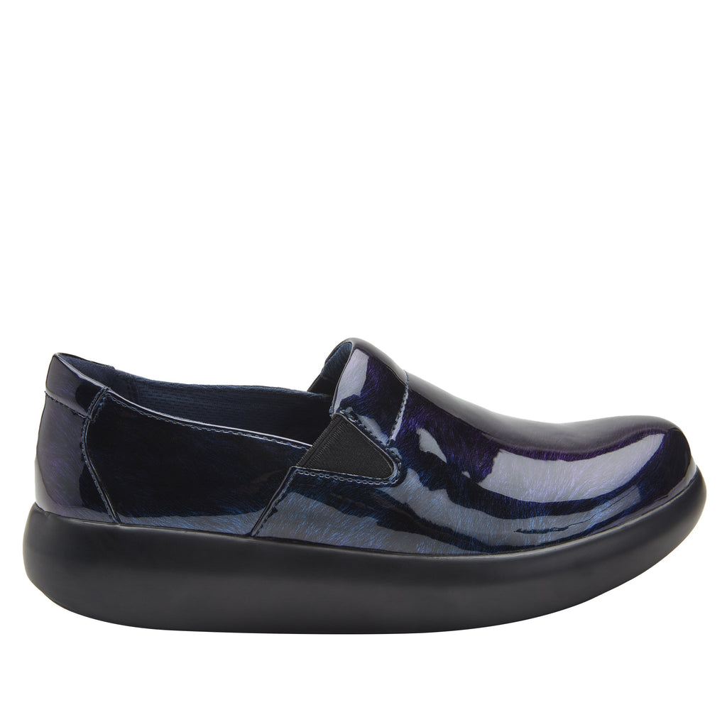 Elly Azure Fields vegan leather upper slip on style shoe with non-flexing rocker outsole - ELL-7877_S2