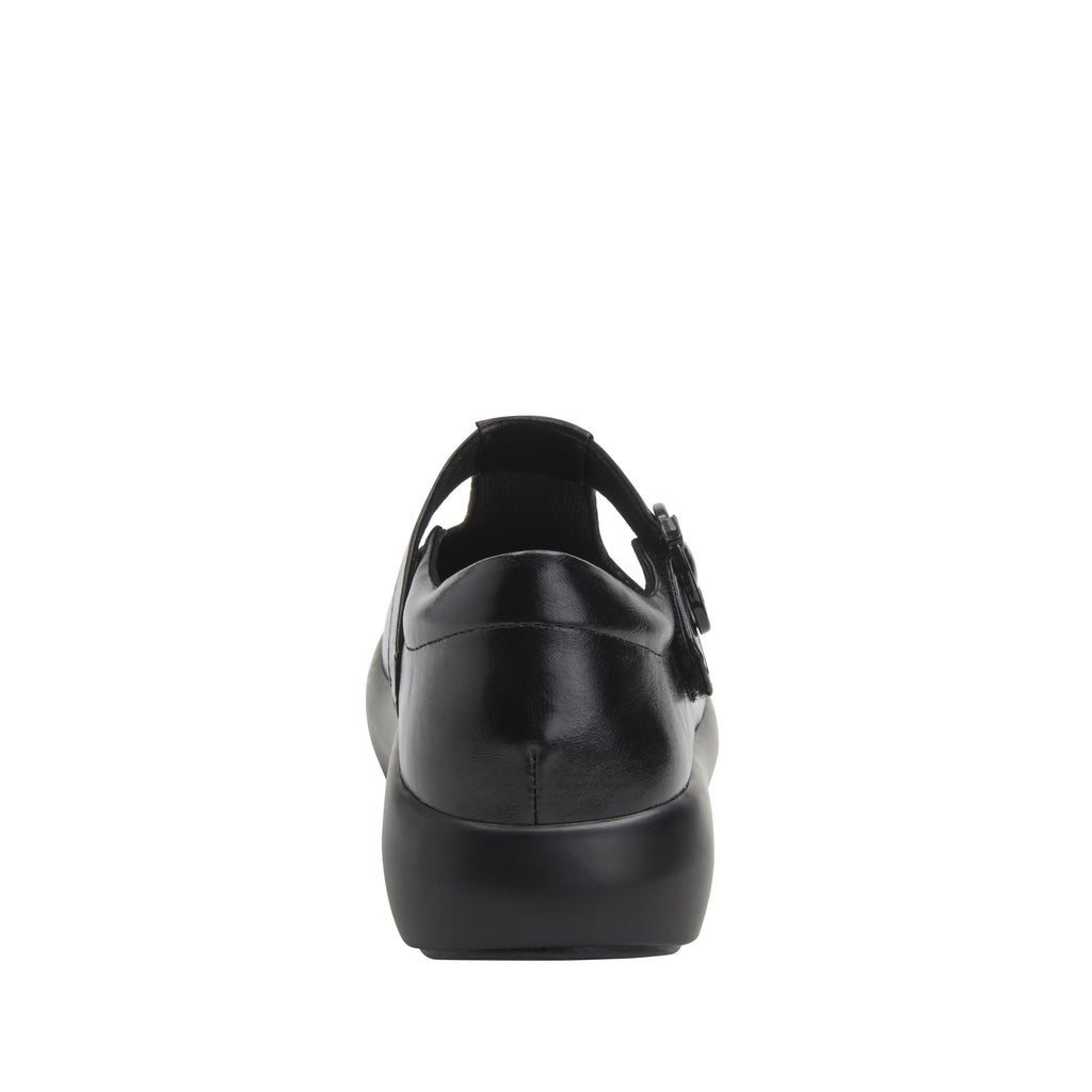 Eloise Black vegan leather upper t-strap style with adjustable hook-and-loop strap with non-flexing rocker outsole - ELO-7857_S3