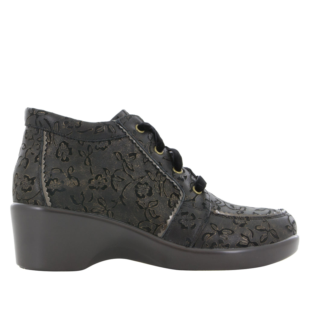 Elsa Bronze Eyed Susan lace up bootie on the career fashion wedge outsole - ELS-854_S2 (520414953526)