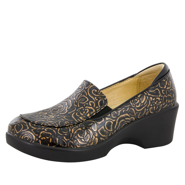 Emma Bronze Bouquet Shoe - Alegria Shoes
