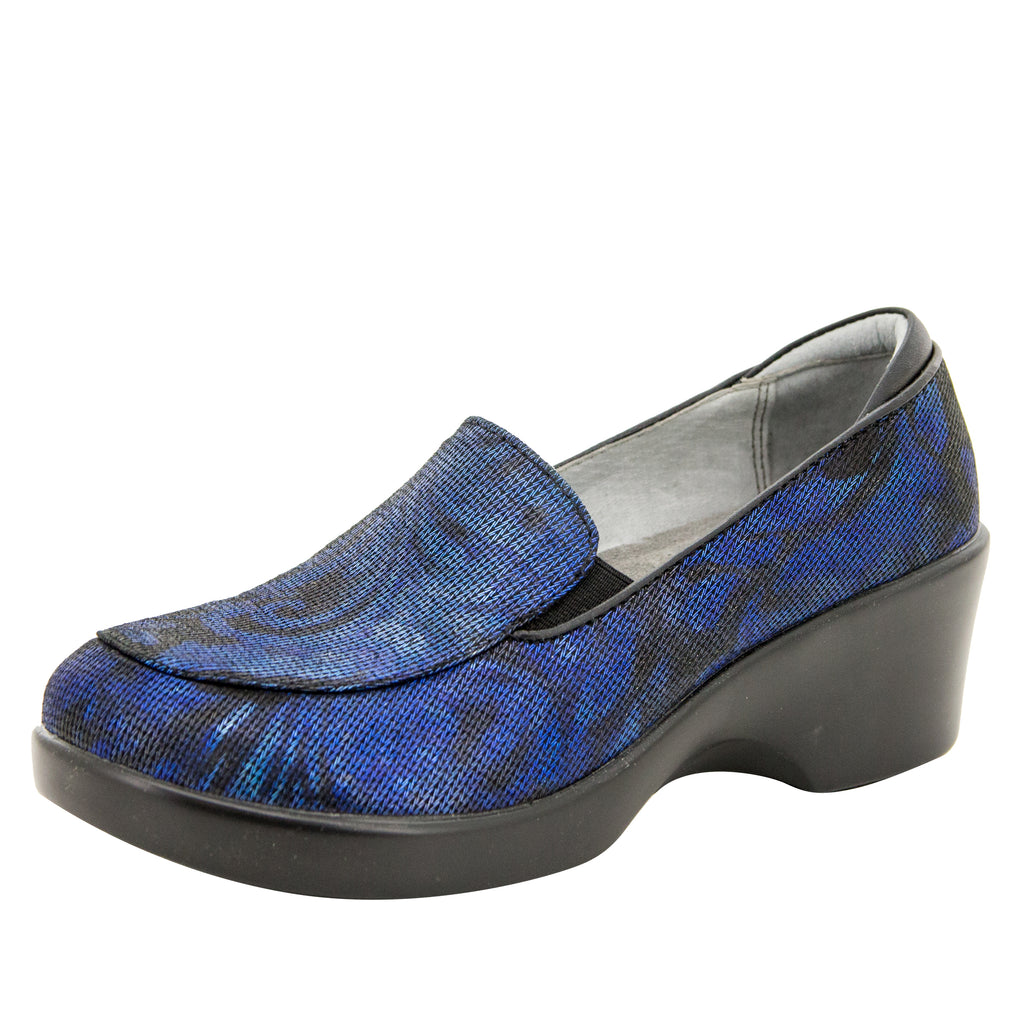 Emma Blue Twist Shoe - Alegria Shoes