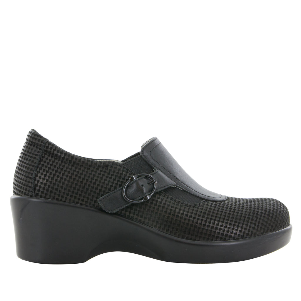 Enyah Houndstooth Mini wedge shoe with elastic gore and slip resistant outsole - ENY-773_S2