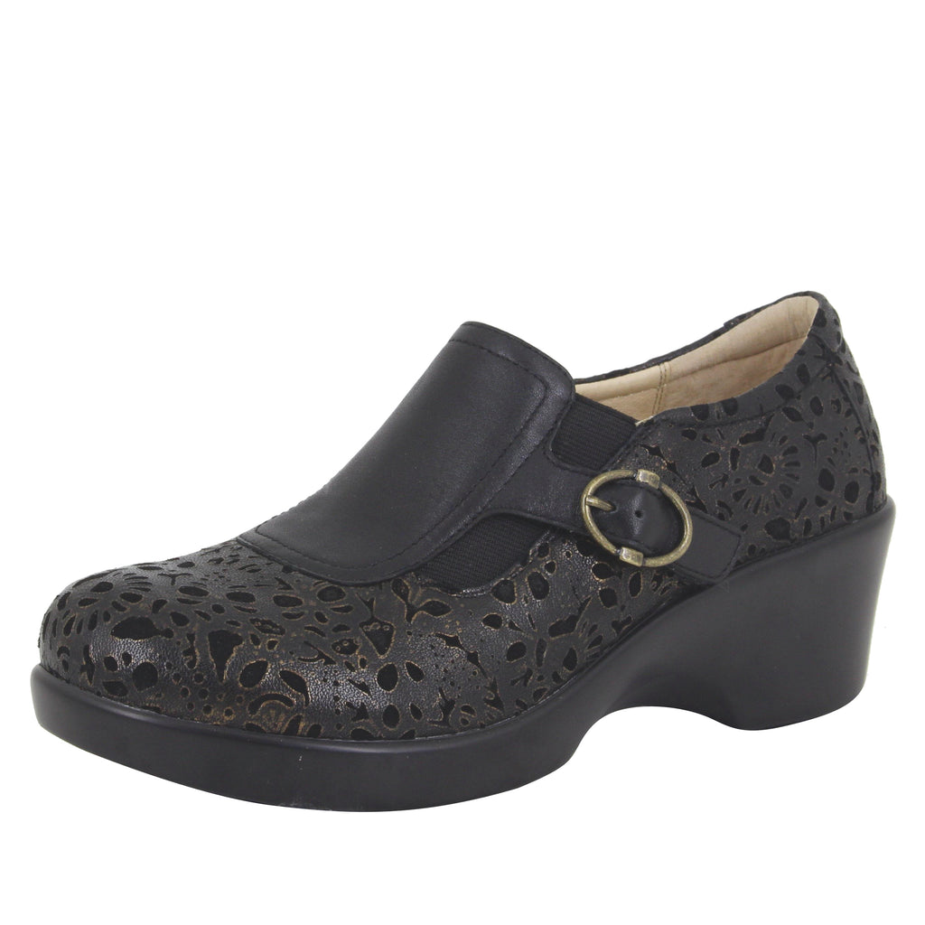 Enyah Treasure wedge shoe with elastic gore and slip resistant outsole - ENY-845_S1