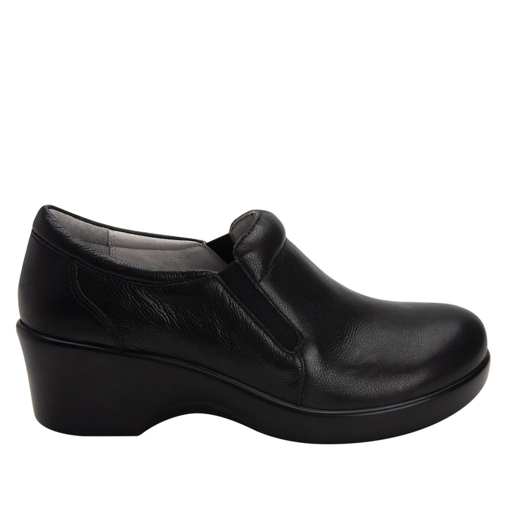 Eryn slip on career fashion wedge shoe in black Upgrade leather - ERY-161_S2 (2250496442422)