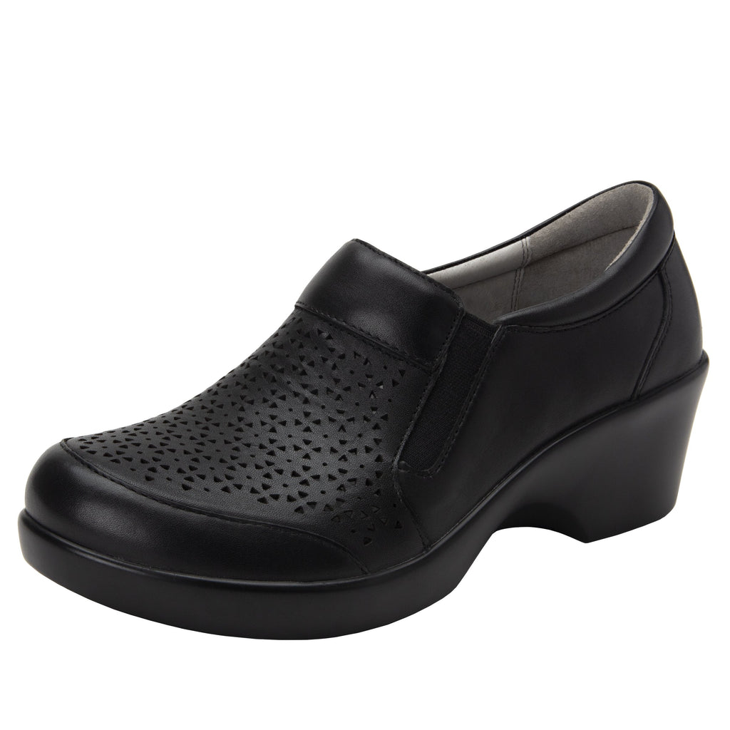 Eryn slip on career fashion wedge shoe in timeless Breezeway Black- ERY-271_S1