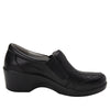 Eryn slip on career fashion wedge shoe in timeless Breezeway Black- ERY-271_S2