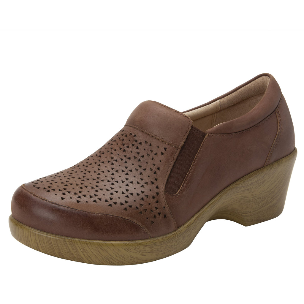 Eryn slip on career fashion wedge shoe in timeless Breezeway Tawny- ERY-272_S1