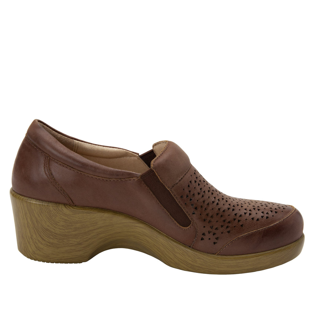 Eryn slip on career fashion wedge shoe in timeless Breezeway Tawny- ERY-272_S2