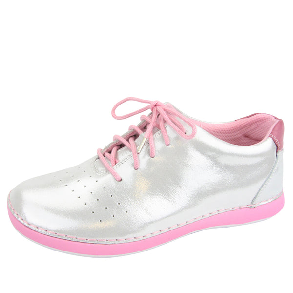 Essence White Shimmer Shoe - Alegria Shoes
