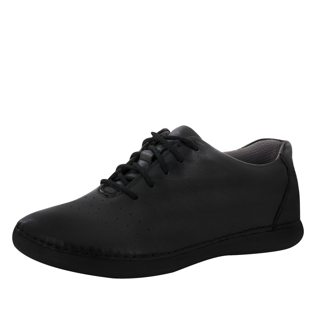 Essence Black Nappa Shoe - Alegria Shoes - 1