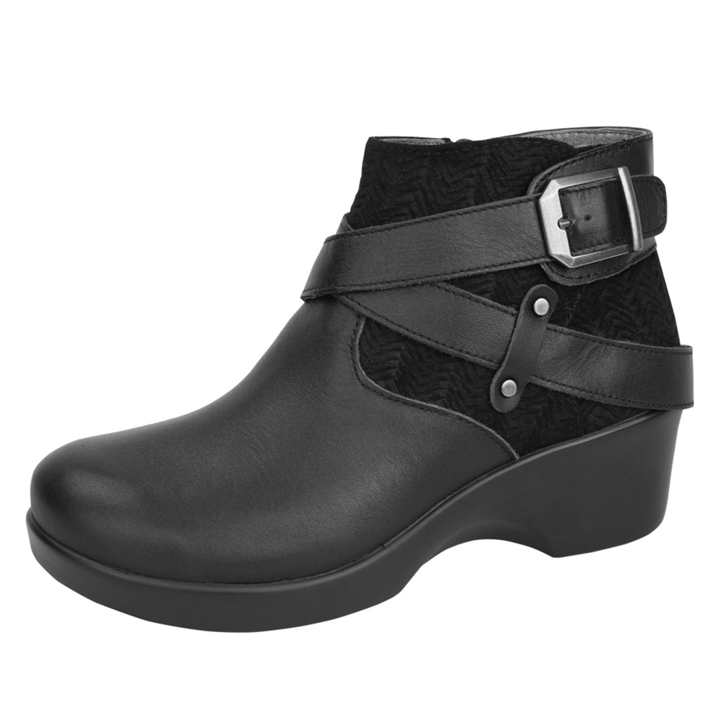 Eva Black Nappa Boot - Alegria Shoes