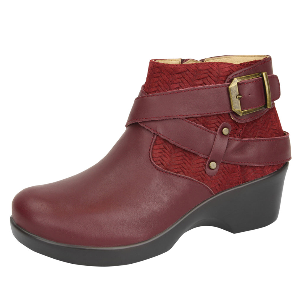Eva Burgundy Boot - Alegria Shoes