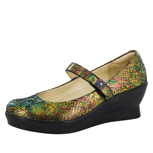 Flair Thrones Wedge - Alegria Shoes - 1