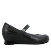 Flair Black Nappa Wedge - Alegria Shoes - 2