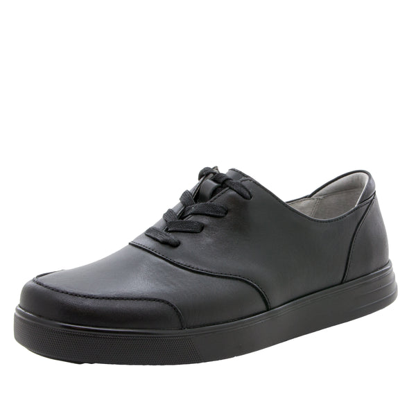 Alegria Men's Flexer Black Tumbled Shoe
