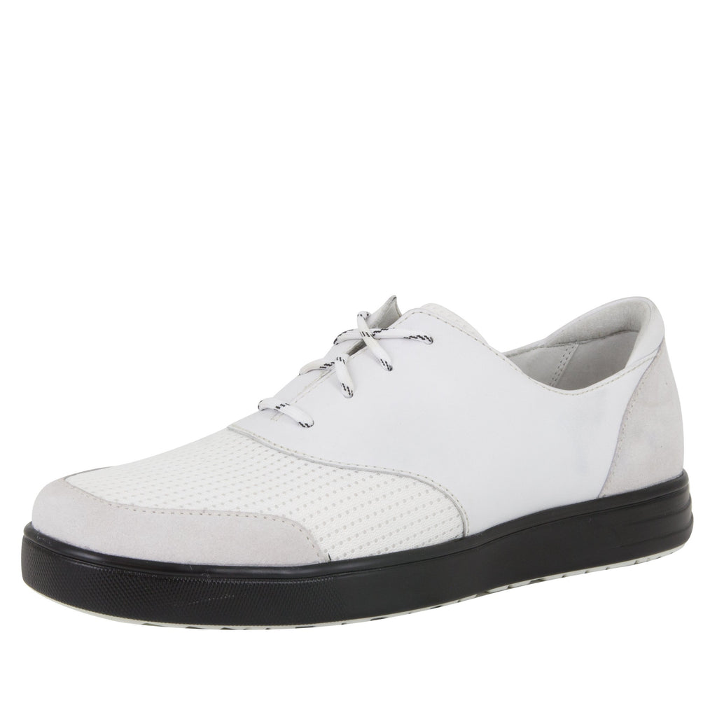 Alegria Men's Flexer White Shoe (517080973366)