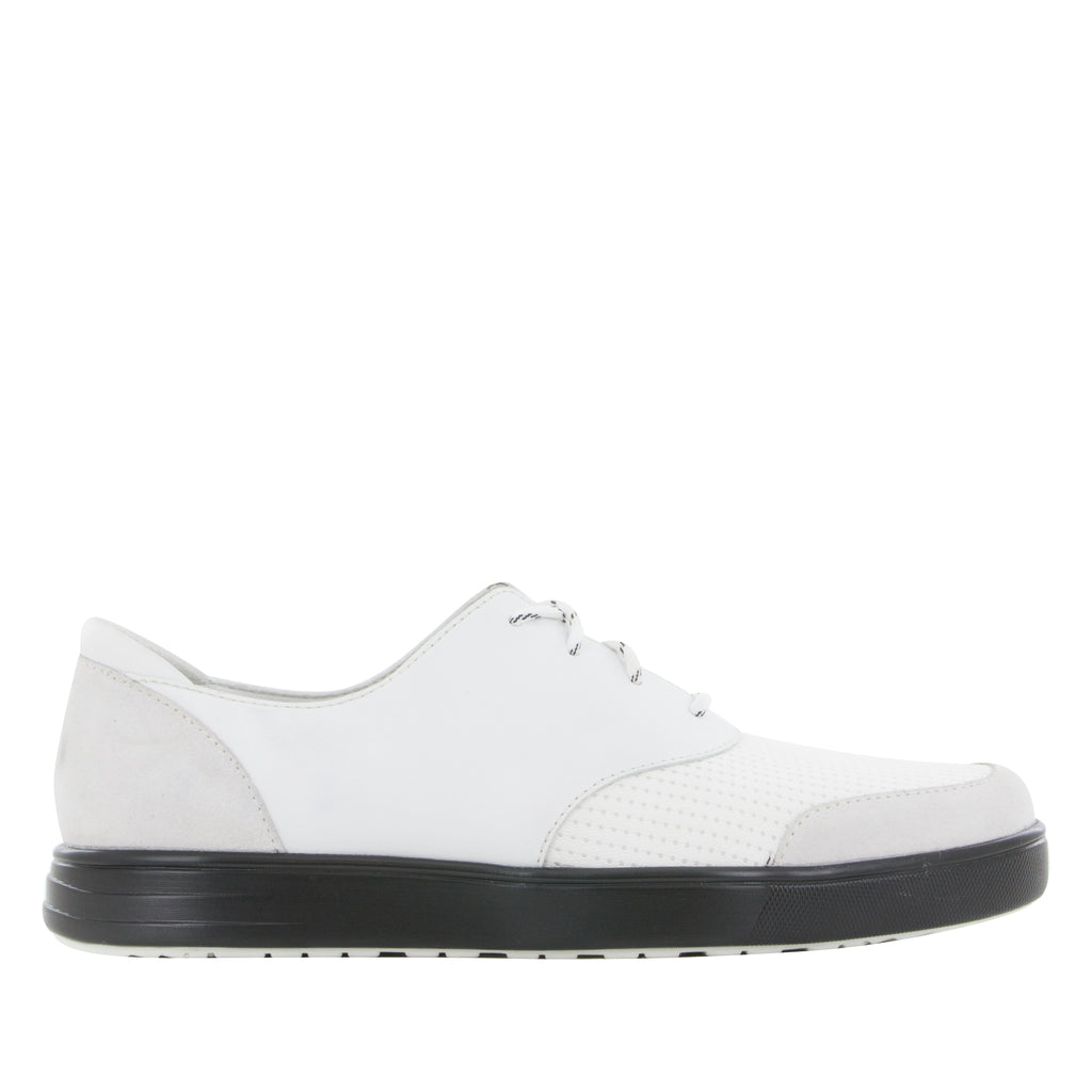 Alegria Men's Flexer White Shoe