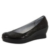 Flirt Black Dazzler Wedge - Alegria Shoes - 1