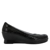 Flirt Black Dazzler Wedge - Alegria Shoes - 2
