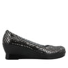 Flirt Pewter Dazzler Wedge - Alegria Shoes - 2