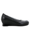 Flirt Black Nappa Wedge - Alegria Shoes - 2