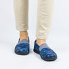 Glee Wavy Navy Flat - Alegria Shoes - 2