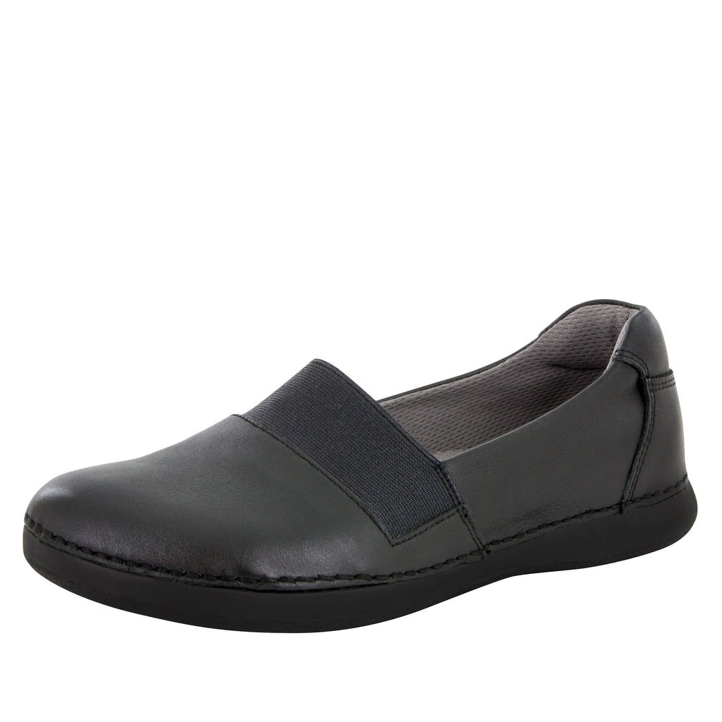 Glee Black Nappa Flat - Alegria Shoes - 1