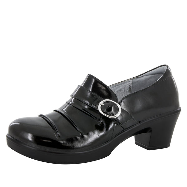 Halli Black Waxy Shoe - Alegria Shoes - 1