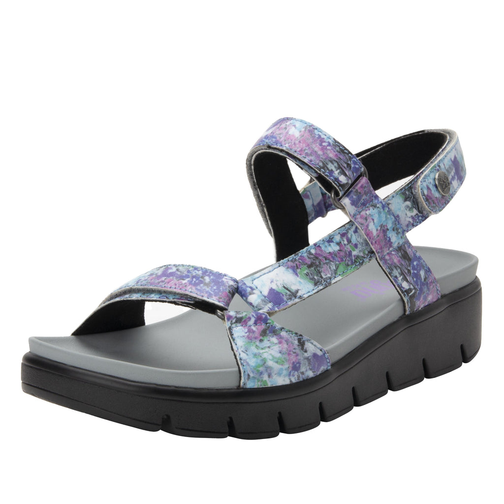 Henna Itchycoo Grey strappy sandal on heritage outsole - HEN-7768_S1