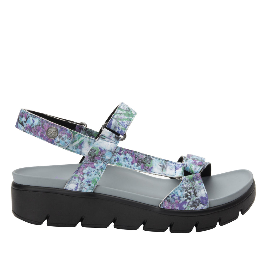 Henna Itchycoo Grey strappy sandal on heritage outsole - HEN-7768_S2