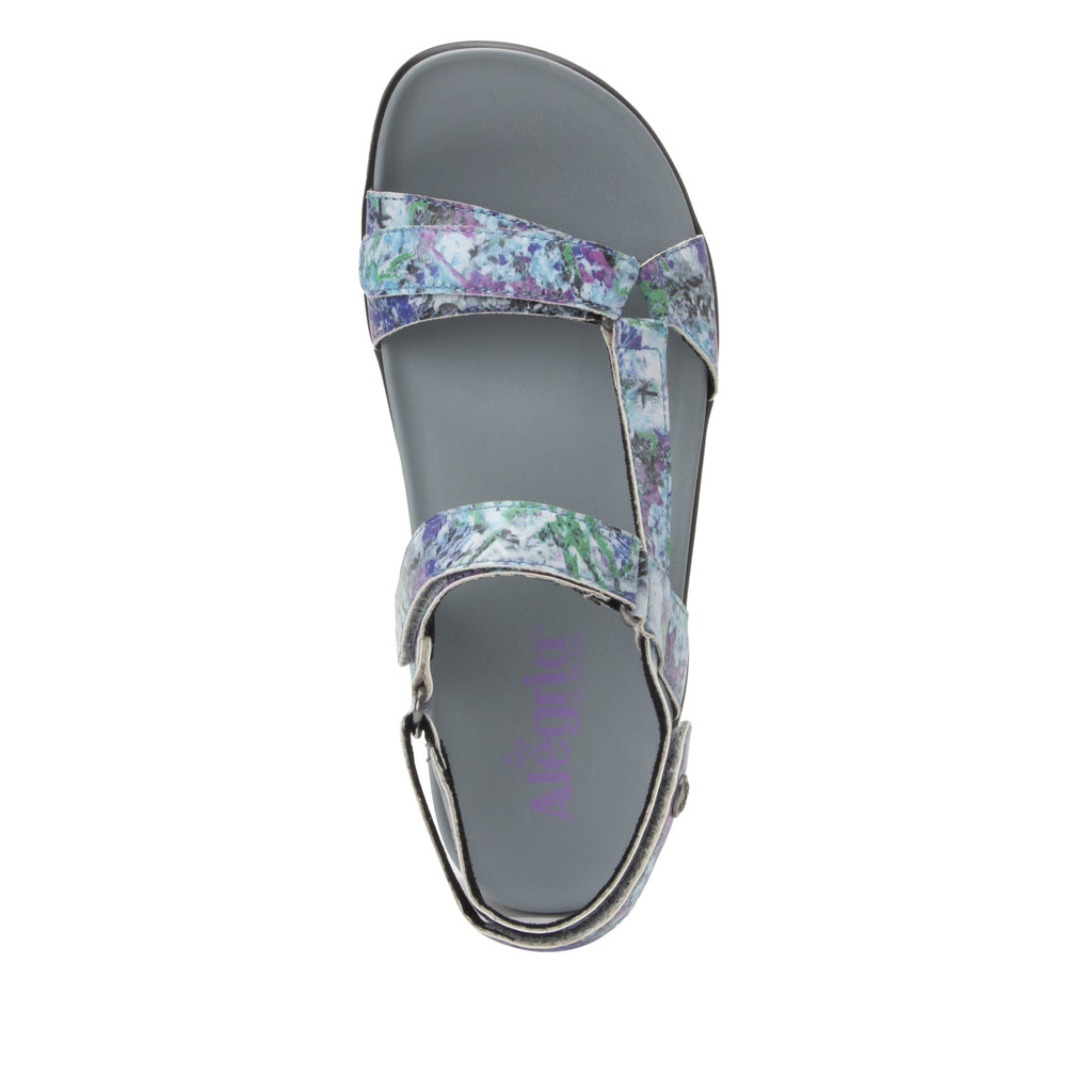 Henna Itchycoo Grey strappy sandal on heritage outsole - HEN-7768_S4