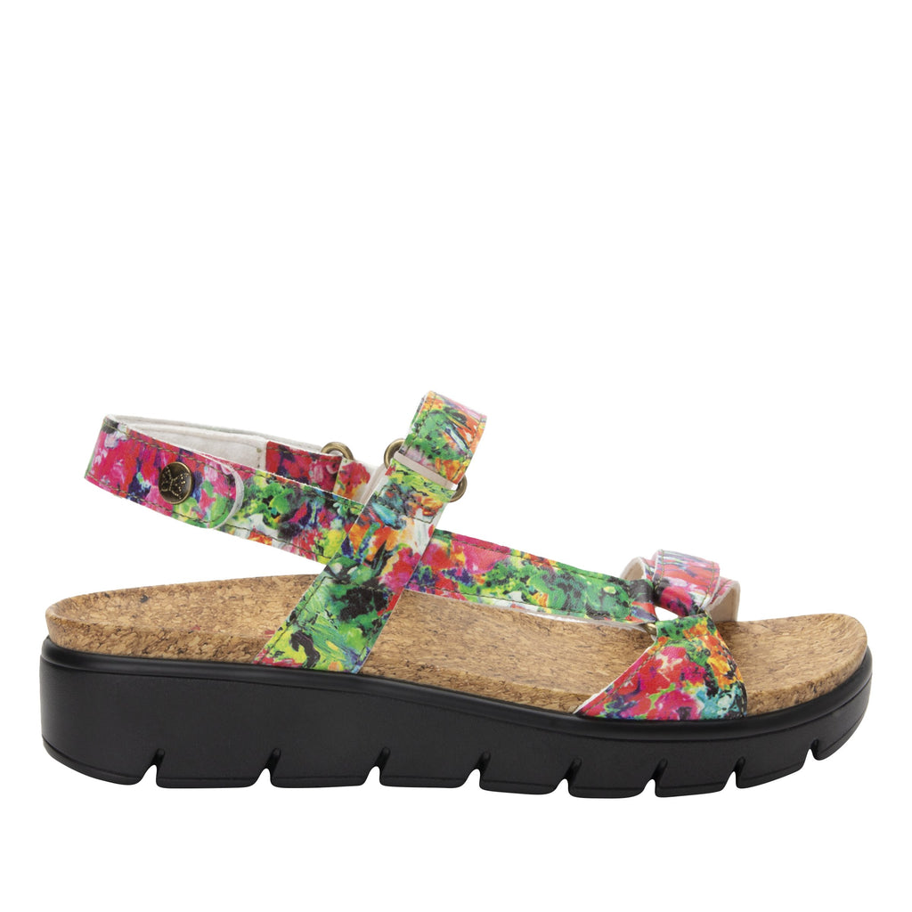 Henna Itchycoo strappy sandal on heritage outsole with cork printed footbed- HEN-7769_S2