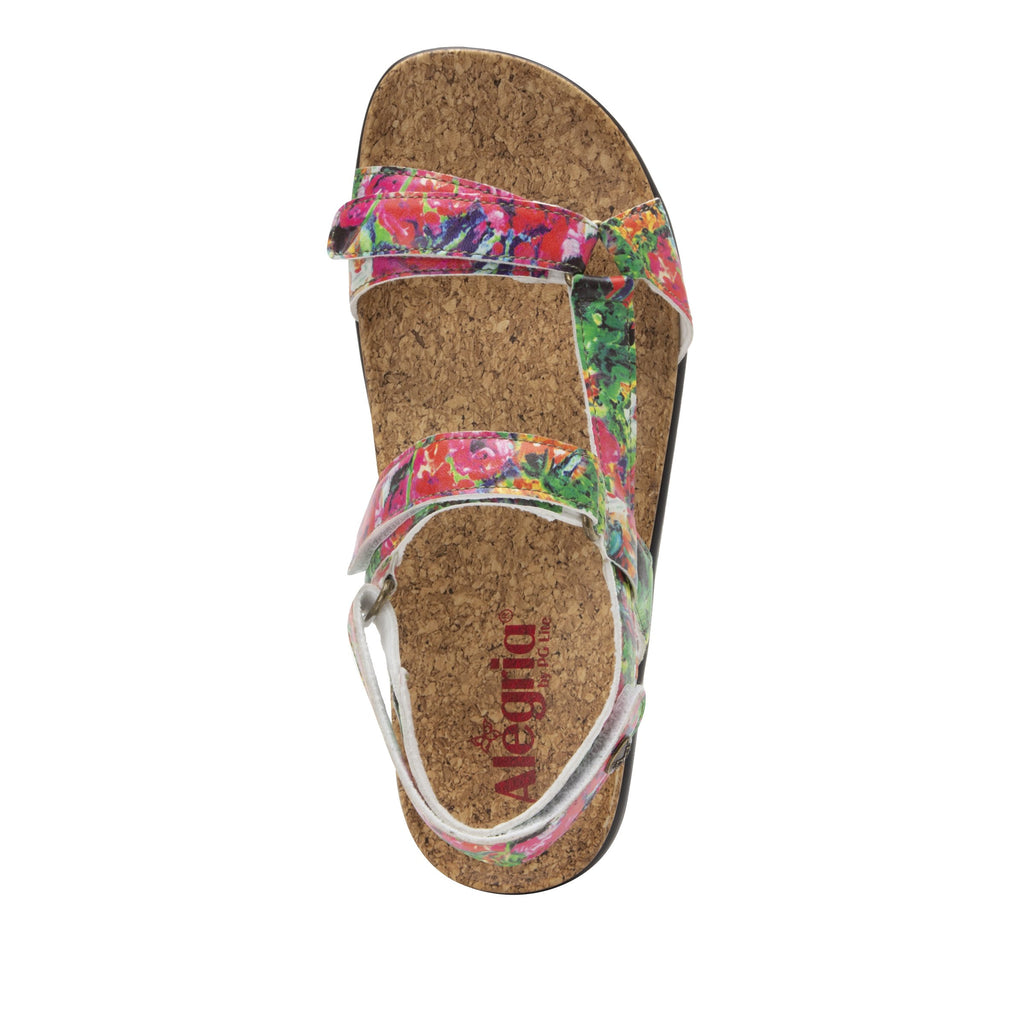Henna Itchycoo strappy sandal on heritage outsole with cork printed footbed- HEN-7769_S4