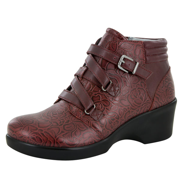 Indi Oxblood Bloom Boot - Alegria Shoes - 1