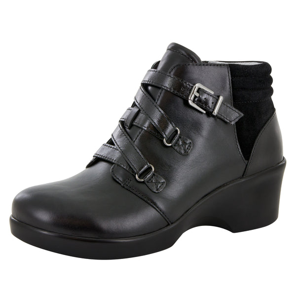 Indi Black Nappa Boot - Alegria Shoes - 1