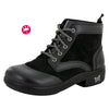 Izzy Black Nappa Water-Resistant Boot - Alegria Shoes - 1