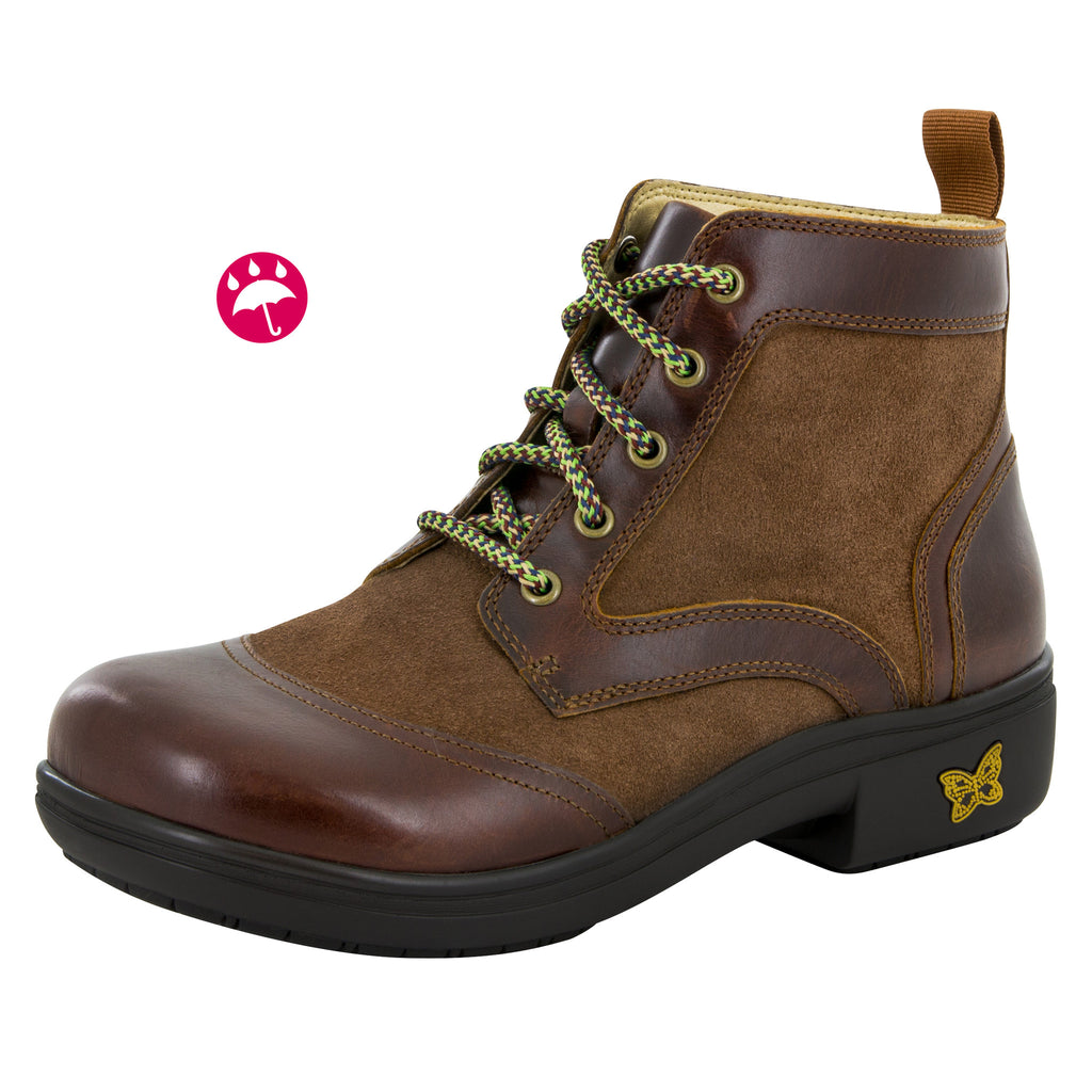 Izzy Hickory Water-Resistant Boot - Alegria Shoes - 1