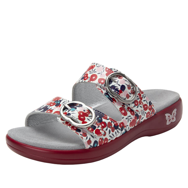Jade Berry Sweet Red sandal on pro casual outsole - JAD-779_S1