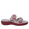 Jade Berry Sweet Red sandal on pro casual outsole - JAD-779_S2