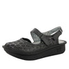 Jemma Black Burnish Sandal - Alegria Shoes - 1