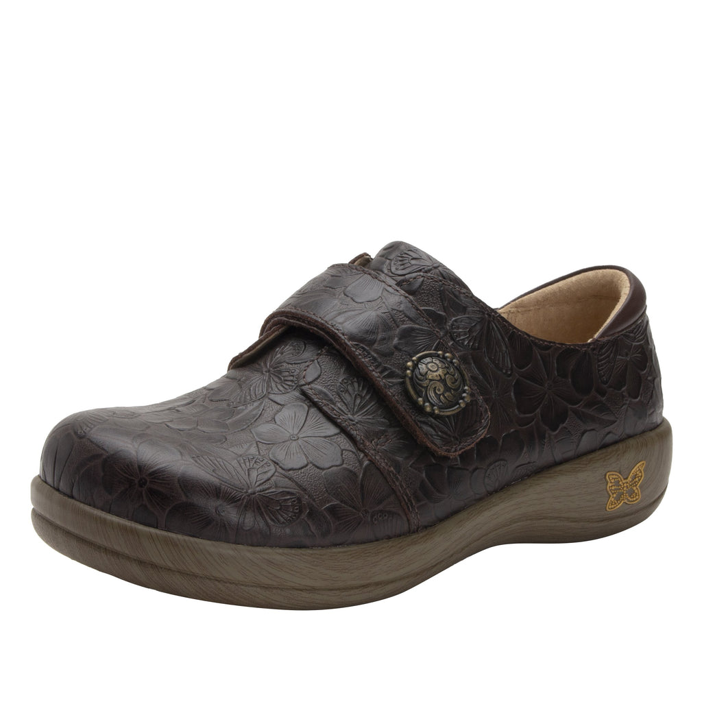 Joleen Flutter Choco Professional Shoe with adjustable strap on the Career Casual outsole - JOL-275_S1