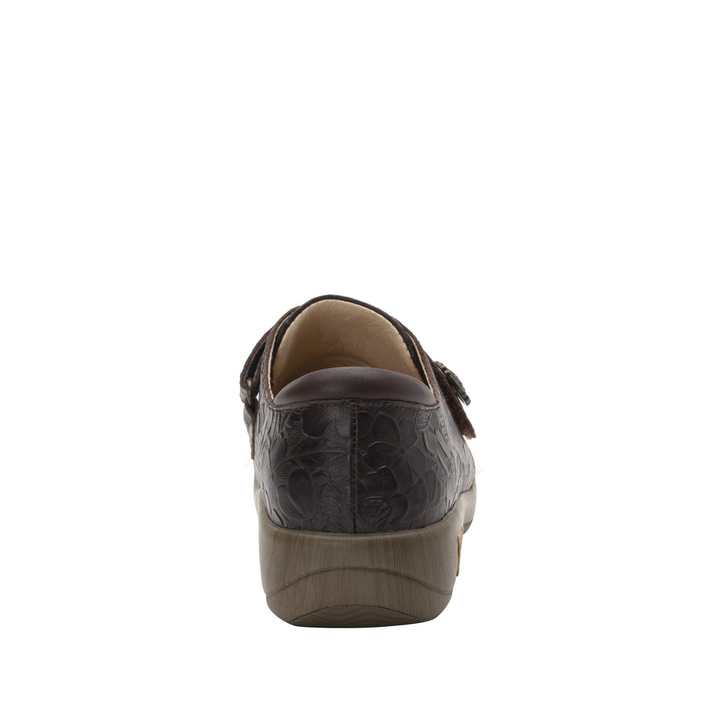 Joleen Flutter Choco Professional Shoe with adjustable strap on the Career Casual outsole - JOL-275_S3