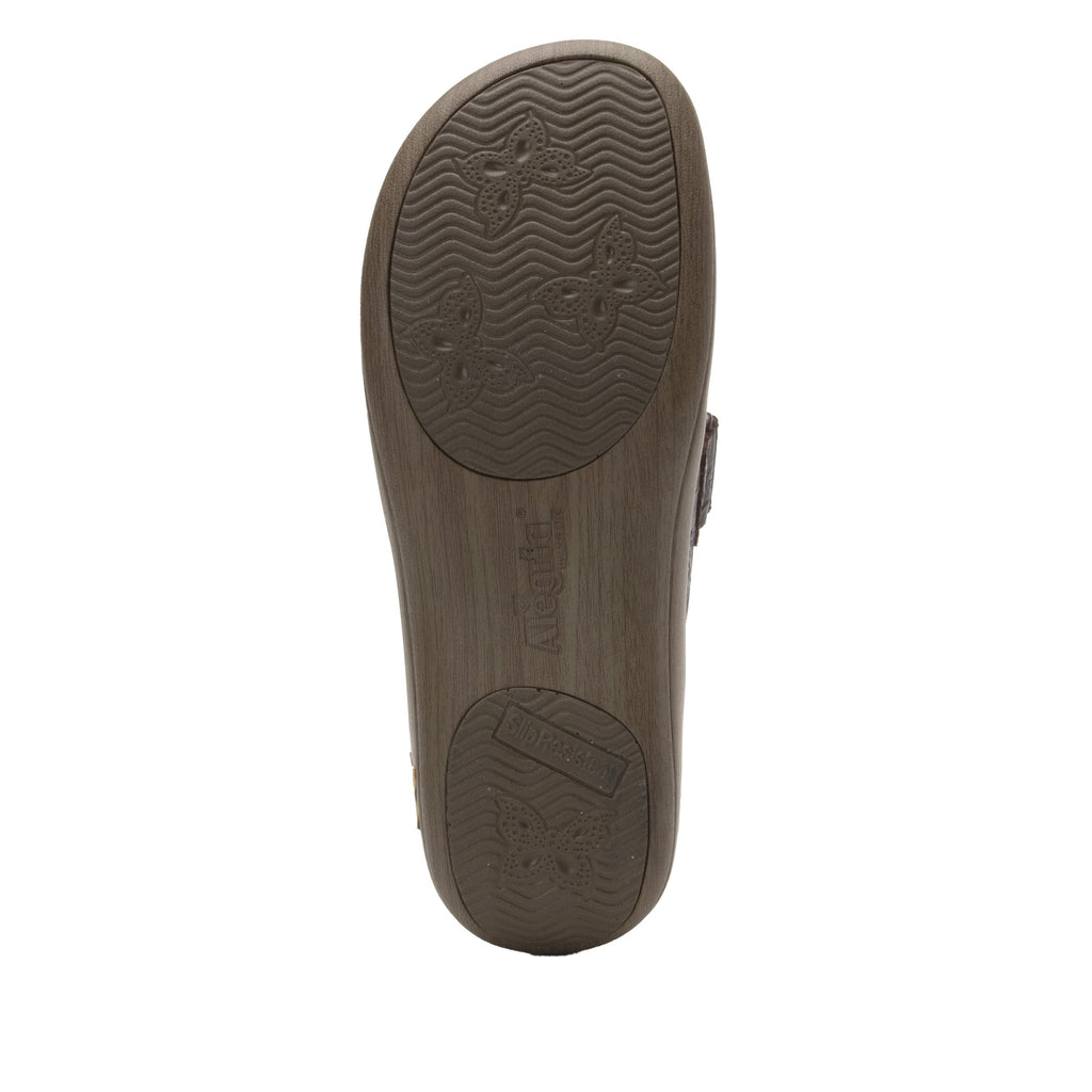 Joleen Flutter Choco Professional Shoe with adjustable strap on the Career Casual outsole - JOL-275_S5
