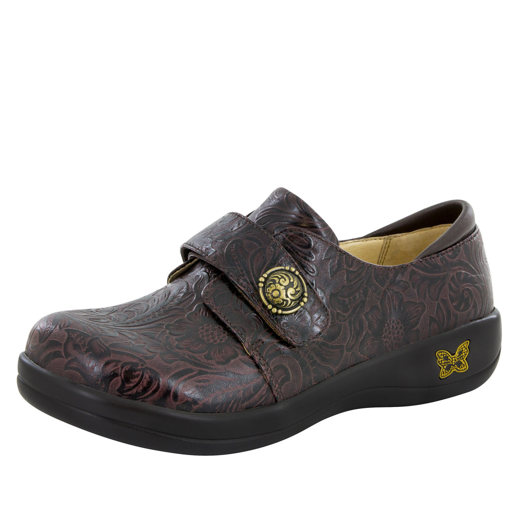 Joleen Molasses Tooled Professional Shoe - Alegria Shoes - 1 (5969622913)